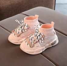 MoneRffi Children Shoes 2019 Autumn Girls Boys Casual Shoes Breathable Mesh Kids Sneakers White Chaussure Enfant Garcon Fille(China)