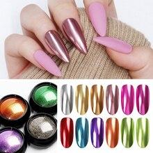 1g ongles miroir paillettes poudre ensemble dongles couleur métallique Nail Art UV Gel polissage Chrome flocons Pigment poussière décorations