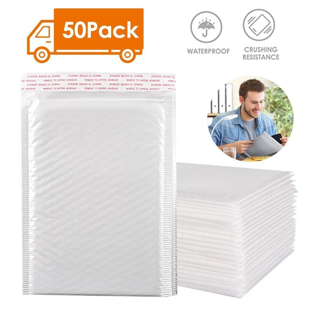 Каждая упаковка из 50 пузырчатых конвертов по электронной почте, водонепроницаемая пузырчатая сумка для почты, амортизирующий офисный конв...