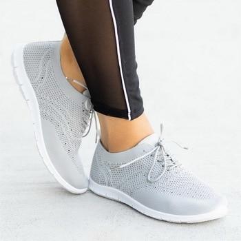 Woman Flat Shoes Fashion Casual Sneakers Soft Vulcanize Sneakers Shoes Mesh Sneakers Female Sneakers Tenis Feminino 2020 New