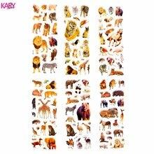 6 Sheets Wildlife Wild Safari Park Animals Scrapbooking Bubble Puffy Stickers Kawaii Toys Reward Kids Factory Direct Sales зонт складной kawaii factory kawaii factory ka005dwtpv46