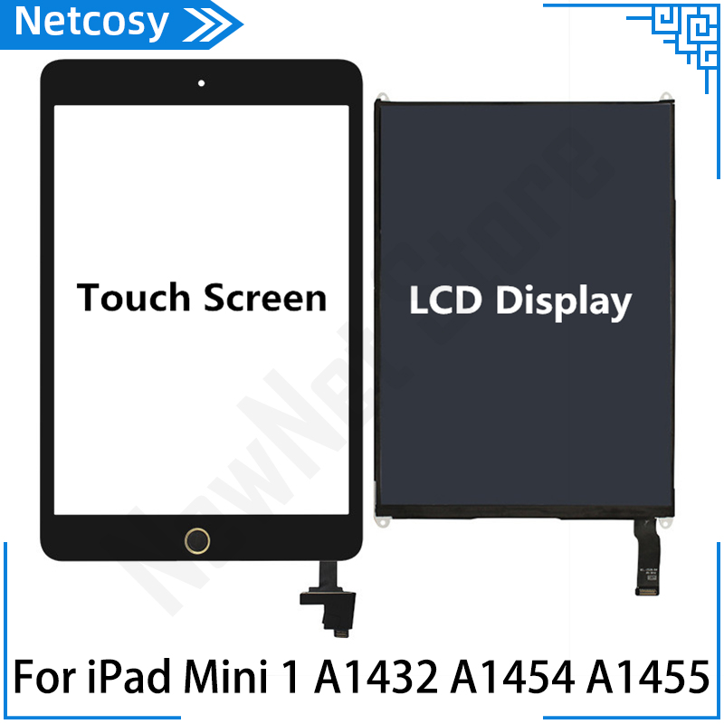 For <font><b>iPad</b></font> Mini 1 Touch <font><b>screen</b></font> Home Assembly / LCD <font><b>Display</b></font> Repair Parts For <font><b>ipad</b></font> mini <font><b>A1432</b></font> A1454 A1455 Tablet <font><b>Screen</b></font> replacement image