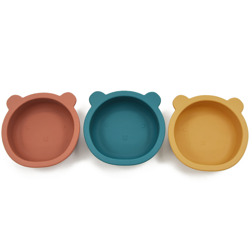 2.69US $  Baby Cartoon Silicone Plate Food Grade Tableware for Children Anti flip Suction Bowl Toldd...