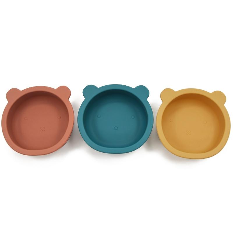 Детская силиконовая тарелка с мультяшным рисунком, детская посуда для пищевых продуктов, антифлип, чаша на присоске, детская посуда, блюдо б...