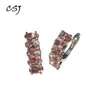CSJ Diaspore Zultanite Earrings 925 Sterling Silver Stone Color change Fine Jewelry Women Lady Wedding Engagment Party Gift