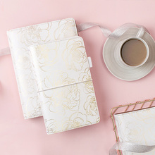 Lovedoki Foil Gold Travlers Notebook Standard Size Planner Travelers Journal Personal Diary Gift Stationery School Supplies