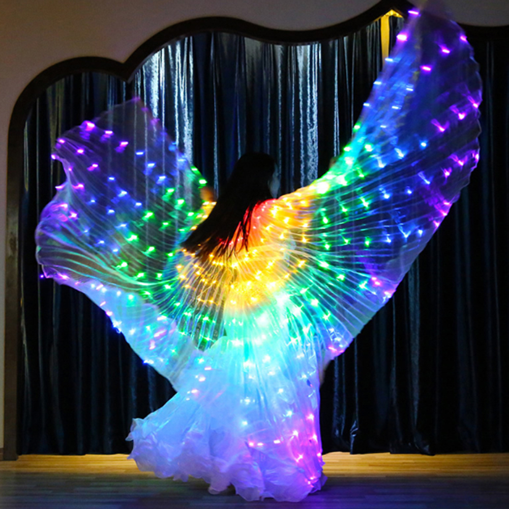 Wings Sticks Adult Children Led Wings Belly Dance Lamp Props 360 Degrees Accessories Children Led Performance Clothing
