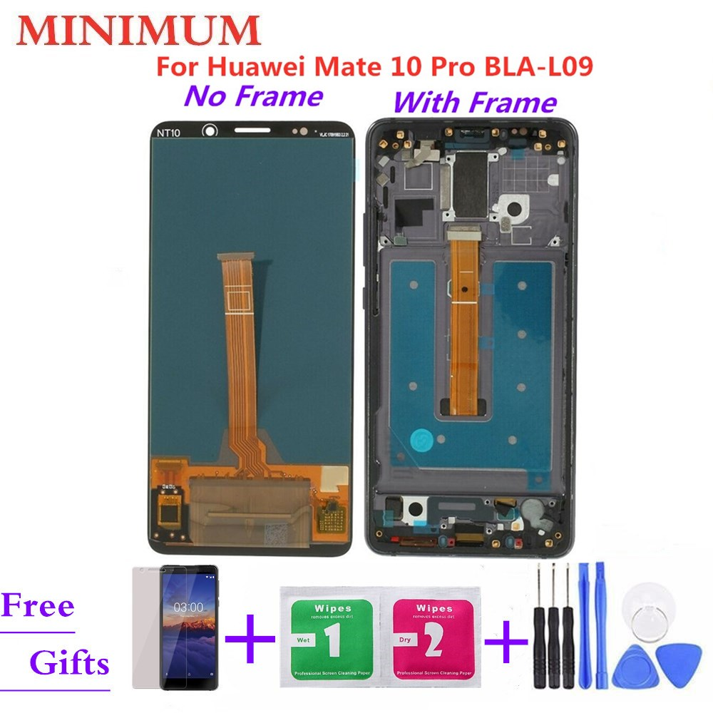 For Huawei Mate 10 Pro BLA-L09 BLA-L29 LCD Display Touch Screen Digitizer Assembly With Frame For Mate 10Pro 6.0