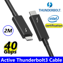 Coaxial Thunderbolt 3 Data Cable Type-C Thunderbolt3 PVC Version 40Gbps PD 100W 5A Fast Charger Cable for Macbook Pro Samsung