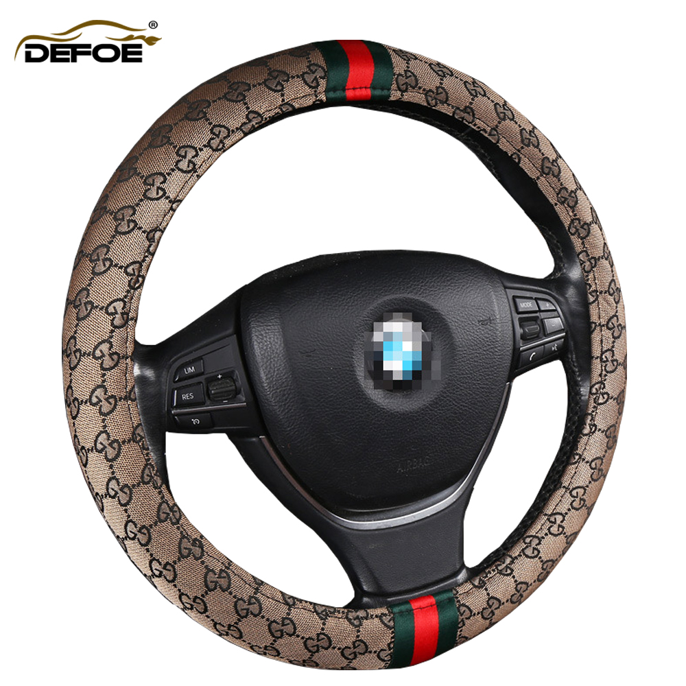 Car Steering Wheel Cover Four Seasons Steering Wheel Universal Tide Brand Personality Fashion Non-slip Sweat-absorbent AUTO