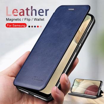 Кожаные чехлы для телефонов Samsung Galaxy A12, чехол с магнитной застежкой для Samsung Galaxy A02S, A31, galaxy a 50 Бамперы      АлиЭкспресс