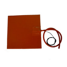 220V 1100W silicone rubber heater for 3d printer with 3M adhesive(China)