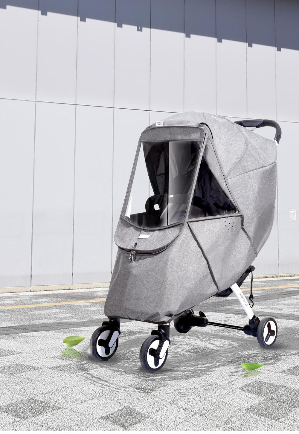 Pram Baby Stroller Rain Cover//Mosquito//Wind//Dust Net Pushchair Cover w//Zip
