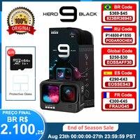 GoPro HERO 9 Black Action Camera subacquea 4K 5K con schermo frontale a colori, Sports Cam 20MP foto, Streaming Live Go Pro HERO 9