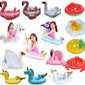 Детское кольцо для плавания с солнцезащитным козырьком, плавающий бассейн, надувной круг для плавания с фламинго, детское сиденье, игрушки ...
