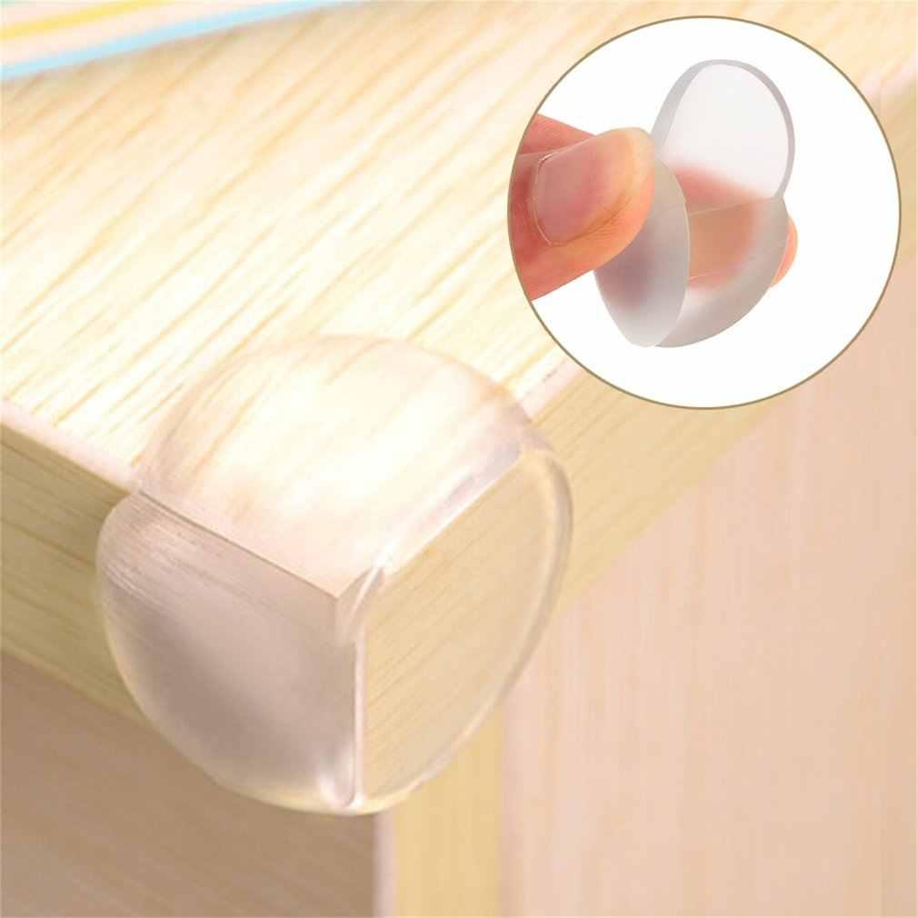 Child 4pcs Baby Safe Safety Silicone Protector Table Corner Edge Protection Cover Children Anticollision Edge &Corner Guards