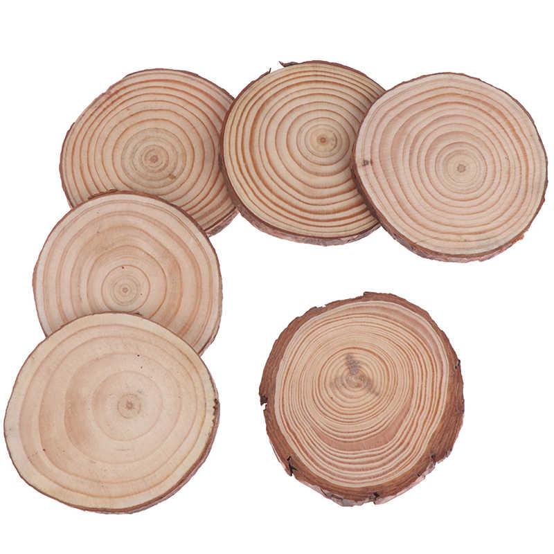 Vintage Gaya Country Kayu Pinus Chip Memotong Potongan Kayu Log Sheet Pedesaan Dekorasi Pernikahan Centerpieces 6 Pcs/lot