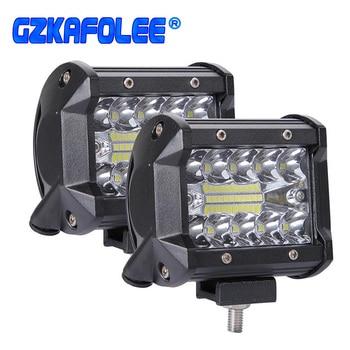 цена на 4in Car LED Work Light Bar Driving Lamp for Offroad Boat Tractor Truck 4x4 SUV Fog Light 12V 24V Headlight for ATV Led Bar