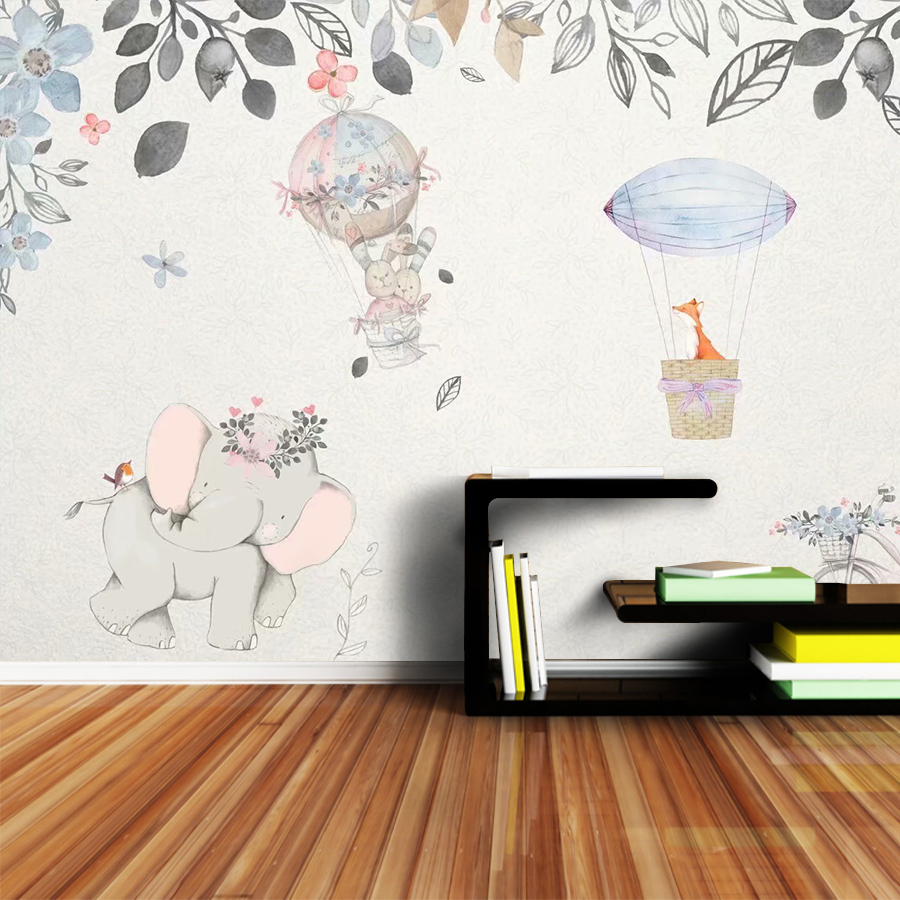 3d Cartoon Wallpapers Mural Rolls Walls Living Room Kids Wallpaper For Wall Paper Papers Home Decor Hot Air Balloon Bedroom Roll