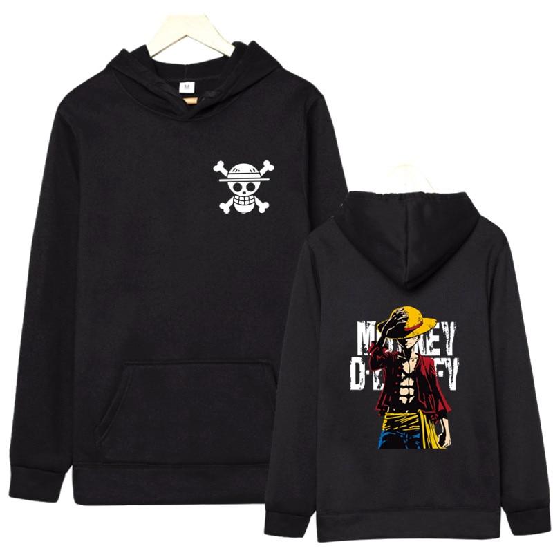 Hot Fashion 2019 Autumn Winter New One Piece Luffy Men's Hoodies Sweatshirt High Quality Hoodies Men Hip Hop Moleton Masculino