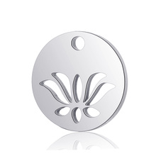 10pcs Real Stainless Steel Lotus Pendant DIY Charms Fashion Lotus Flower Pendant for Jewelry Making Findings Accessory 10pcs star pendant charms fashion polished real stainless steel star pendant for diy jewelry making findings accessories