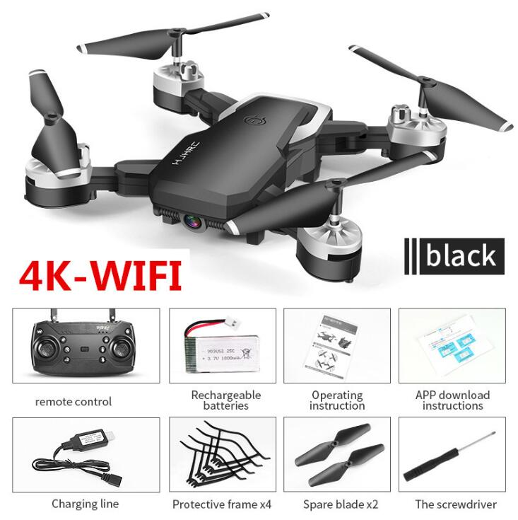HJ28 Foldable RC Drone 4K 720P Camera With HD wifi fpv Quadcopter Professional dron Selfie drones RC helicopter Model Gift Toys