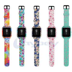 Image 3 - 4in1 For Amazfit Bip Strap 20mm Watch Band Camouflage Silicone Bracelet For Xiaomi Amazfit Bip Bit Youth Case Cover Accessories