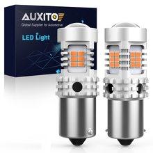 Bombillas LED de señal de giro, sin Error, PY21W, Canbus, BAU15S, sin hiperflash, amarillo ámbar, 7507, 1156PY, 2 uds.
