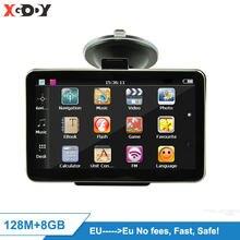 4.3 ''HD camion voiture GPS Navigation FM Sat Nav 128 / 8GB GPS auto carte gratuite mise à jour Navitel carte navigateur