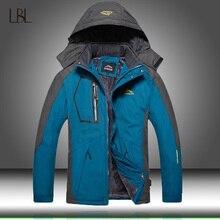 Мужская зимняя ветрозащитная куртка с капюшоном, размеры до 5XL