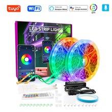 WIFI LED Strip 5050 RGB DIY Music Rhythm High Brightness LED Light 5M 10M 15M 20M 30M 40MWiFi Diode Flexible Tape Set