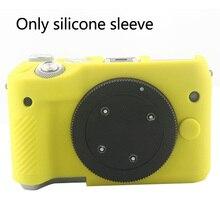 À prova de choque caso capa da câmera moda silicone à prova dwaterproof água anti risco corpo inteiro protetor macio escudo para canon m10 m50