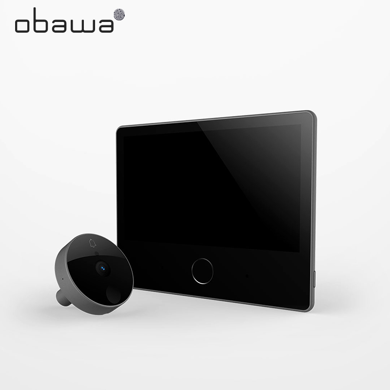 Obawa Wifi Doorbell Camera Video-Eye Peephole Xiaomi Mijia MiHome Smart Cat Eye For Door Outside Wireless Camera Video Recording