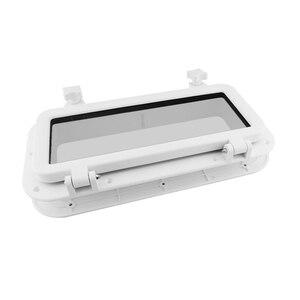Portlight plástico telhado solar à prova ddurable água substituição durável barcos janela retângulo porthole abertura prático iate marinho cobre