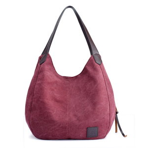 Image 4 - Canvas Bag Vintage Canvas Shoulder Bag Women Handbags Ladies Hand Bag Tote Casual Bolsos Mujer Hobos Bolsas Feminina 2020