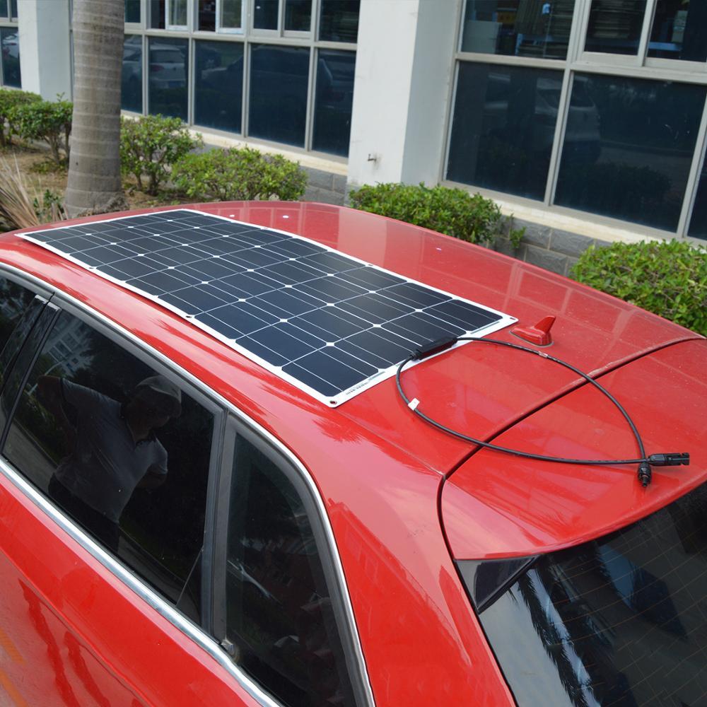 Dokio 2 uds 12V 12V 100W Flexible Panel Solar monocristalino para batería de coche y barco y casa 200w 300w 500w 1000w Panel Solar de China - 5