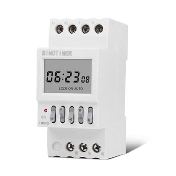 цена на TM623 220V Programmable Astronomical Time Switch with Latitude Longitude Display DIN Rail Timer Relay Controller