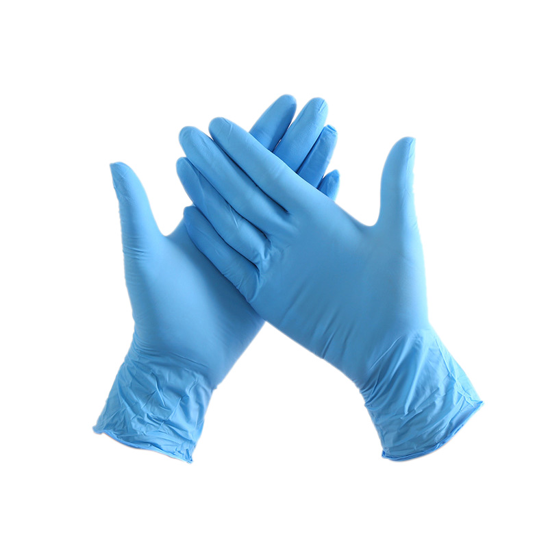 ABKT-100Pcs/Pack Disposable Nitrile Gloves Waterproof Exam Gloves Ambidextrous For Medical House Gloves