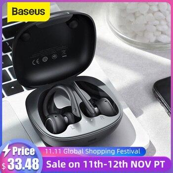 Baseus W17 Sport Bluetooth Earphones TWS Wirless Headphones Headsets Support Qi Wireless Charging Smart touch IP55 Waterproof