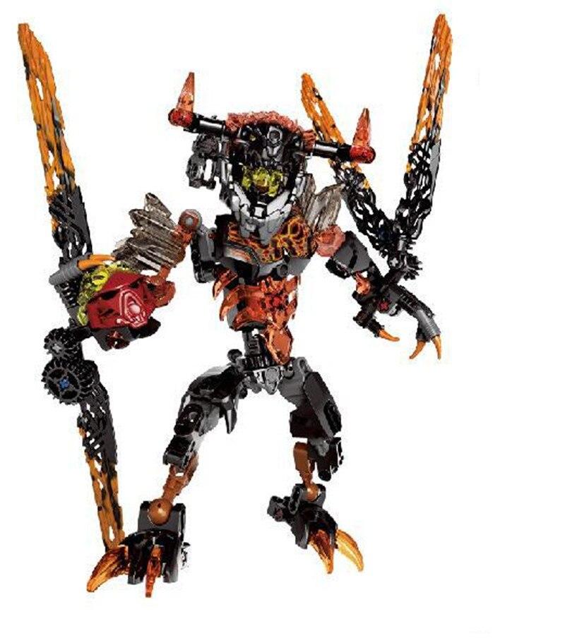 BIONICLE 118pcs 22cm Lava Besta figuras Modelo de Blocos de Construção Tijolos brinquedos