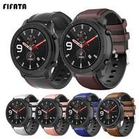 FIFATA-pulsera de cuero para Xiaomi Huami GTR 2 Stratos2 2 S 3, correa de reloj inteligente de 47mm y 42mm