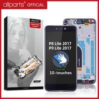 """Cep telefonları ve Telekomünikasyon Ürünleri'ten Cep Telefonu LCD'leri'de 5.2 """"orijinal ekran için HUAWEI P8 Lite 2017 ekran LCD dokunmatik ekran için çerçeve ile P8 Lite 2017 LCD yedek parçalar"""
