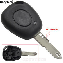 Remote Control Car Key Case Shell For Renault Megane Scenic Laguna Espace Clio 1 Button Uncut NE73 Blade Replacement Car Cover