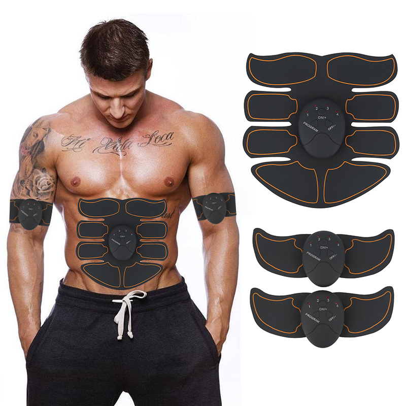 Smart Abdominal Muscle Trainer Electric Muscle Stimulator Gym Abs Arm Sports Stickers Fitness Body Slimming Massager