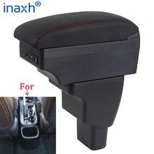 Para hyundai i10 braço interior peças especiais retrofit peças caixa de armazenamento centro braço do carro com usb led luz