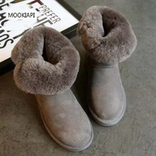 The latest genuine sheepskin in 2019, 100% natural wool women's snow boots, buckled women's shoes, a variety of colors, free