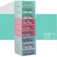 6PCS/Set Thickened Flip Shoes Transparent Drawer Case Plastic Shoe Boxes Stackable Box Storage Box Shoe Storage Organizer