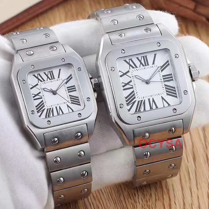 Rose Gold aaa famous Mens brand Luxury Stainless Steel quartz women diamond ladies Designer couples Watch Watches Wristwatches