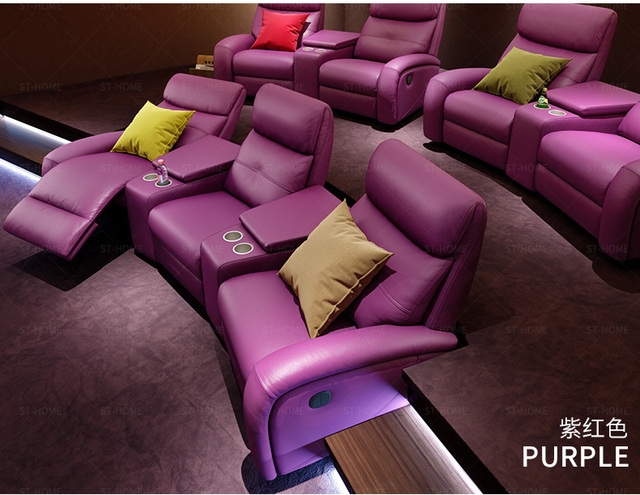 Leather Theater Dual Recliners  6