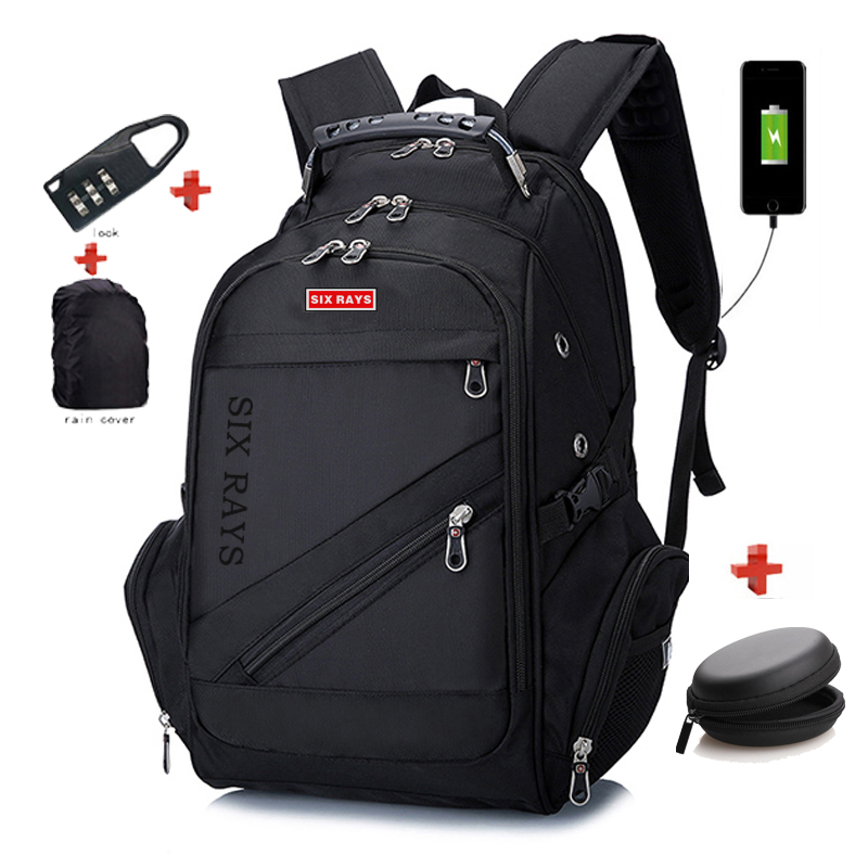 SIXRAYS 2019 Children School Bags Boy Backpacks Brand Design Teenagers Best Students Travel Usb Charging Waterproof Schoolbag
